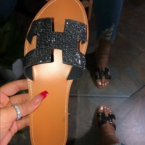 NEW! Glitter slide sandals!!